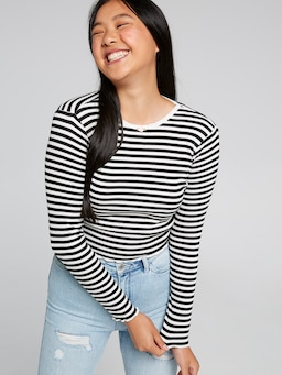 Lettuce Hem Long Sleeve Top