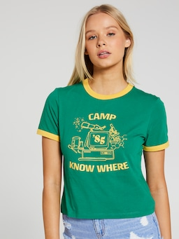 Stranger Camp Nowhere Ringer Tee
