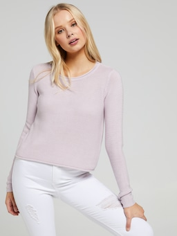 Izzy Crew Neck Crop Knit
