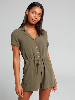 Norah Short Sleeve Utility Playsuit