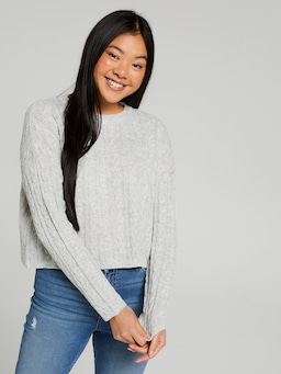 Rylie Cropped Cable Knit