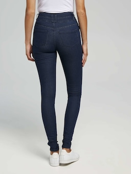 3 Button High Rise Jeans