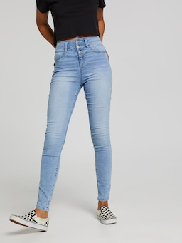 Mia 3 Button High Rise Full Length Jean