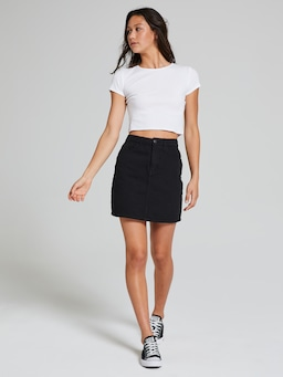 High Rise Mini Skirt