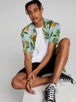 Tropical Frangipani Resort Shirt