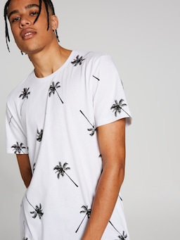 All Over Print Palm Tree Tee