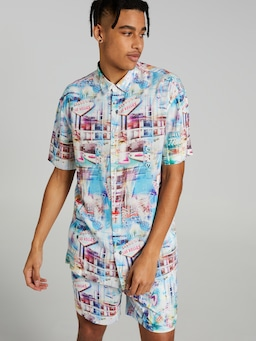 Multi Location Vegas Resort Suit Shirt