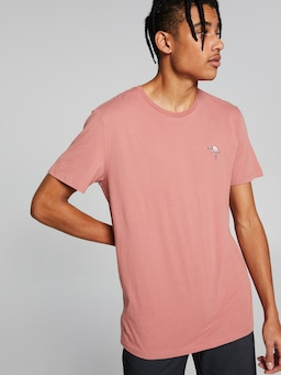 Embroidered Flamingo Short Sleeve Tee