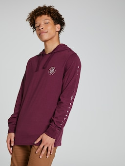 Urban Virtue State Hooded Long Sleeve Tee