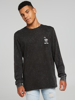Surf Flamingo Long Sleeve Tee