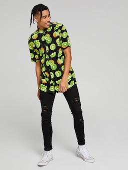 Black Fruit Kiwi Resort Shirt