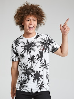 Large Palm All Over Print Tee