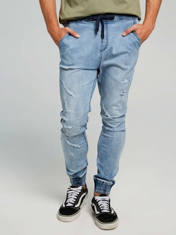 Ripped Denim Jogger