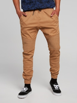 Drop It Pintuck Moto Jogger