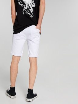 Slim Rip Denim Short