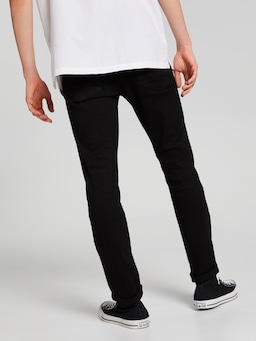 Knee Ripped Skinny Black