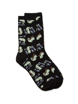 Glow In The Dark Crew Sock