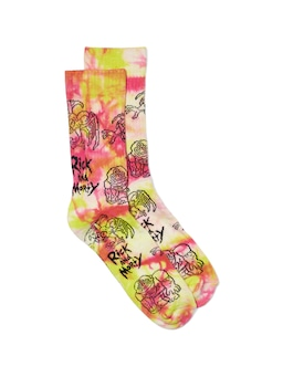 Rick And Morty Monster Tie Dye Sock